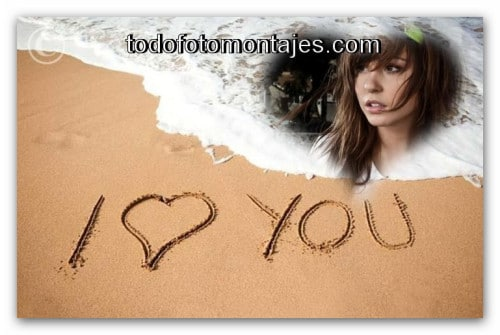 Te Amo En La Arena De La Playa: MÁS DE 100 Fotomontaje De Te Amo En La Playa ONLINE GRATIS