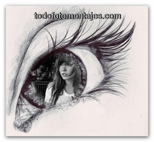 MÁS DE 100 Fotomontaje de ojo en blanco y negro ONLINE GRATIS