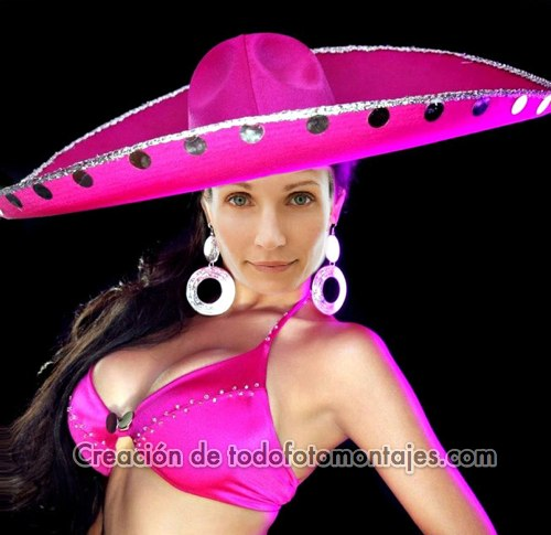 Mexican Woman with Sombrero