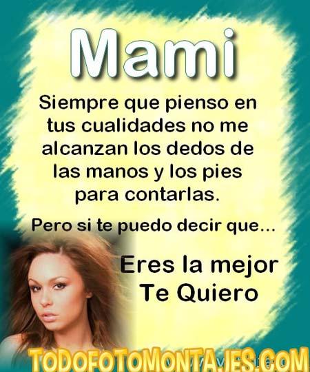 Fotomontaje De Poema Para El D  A De Las Madres